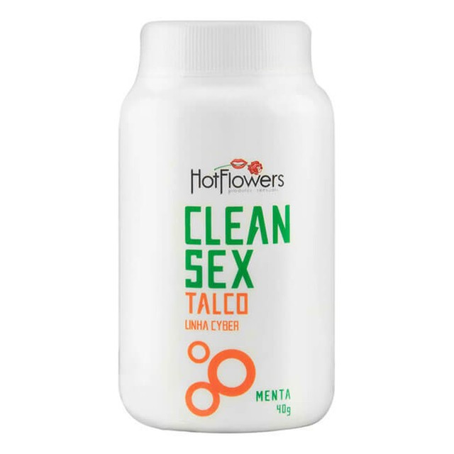 CLEAN SEX TALCO LINHA CYBER 40G - HOT FLOWERS