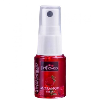 GEL AROMATIZANTE COMESTIVEL HOT MORANGO 15ML - HOT FLOWERS