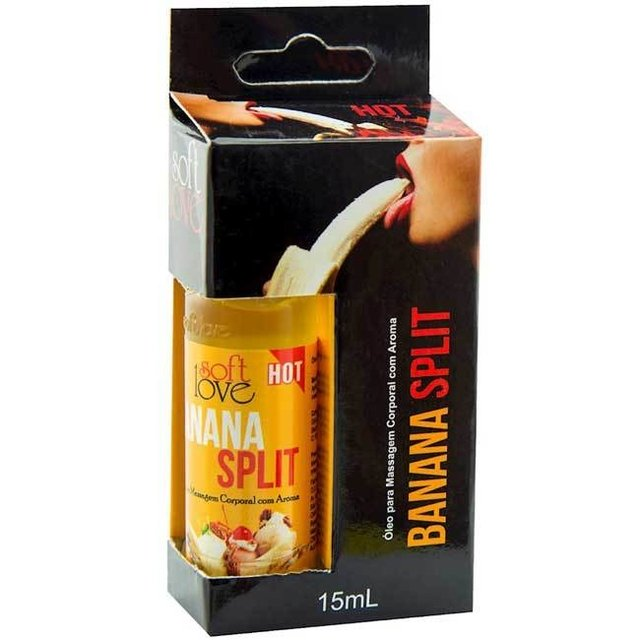 GEL AROMATIZANTE HOT BANANA SPLIT 15ML - SOFT LOVE