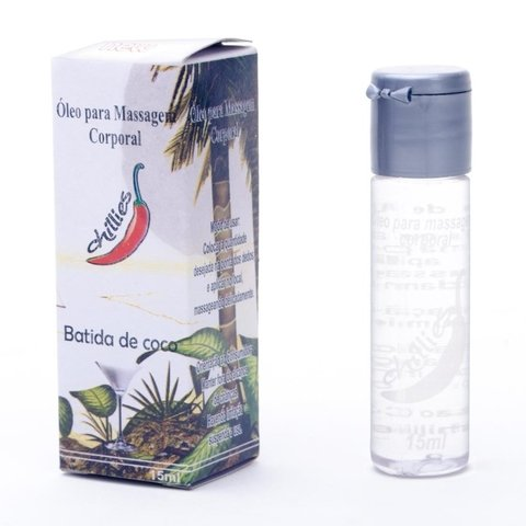GEL COMESTIVEL BATIDA DE COCO 15ML - CHILLIES