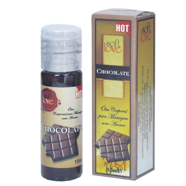 GEL COMESTÍVEL CHOCOLATE 15 ML - SOFT LOVE