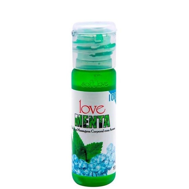 GEL COMESTÍVEL MENTA 15 ML - SOFT LOVE