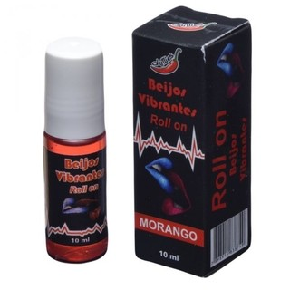 GEL DO BEIJO VIBRANTE EM ROLLON MORANGO 10ML - CHILLIES