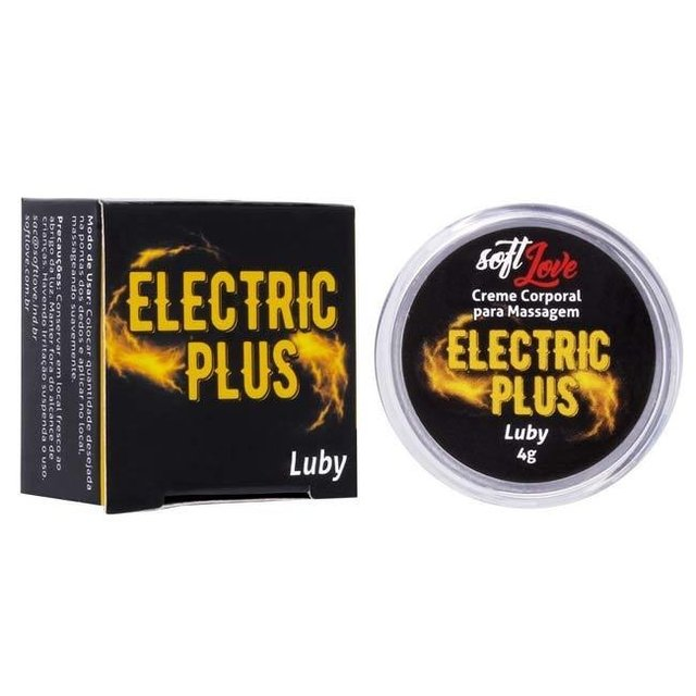 GEL ELETRIZANTE ELETRIC PLUS LUBY 4G - SOFT LOVE