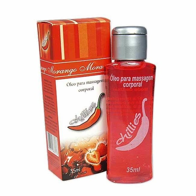 GEL PARA MASSAGEM CORPORAL MORANGO 30ML - CHILLIES