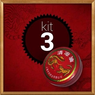 POMADA CHINESA  DRAGON AND TIGER KIT COM 3 UNIDADES - ESSENTIAL BALM