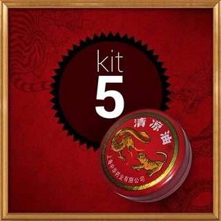 POMADA CHINESA DRAGON AND TIGER KIT COM 5 UNIDADES - ESSENTIAL BALM