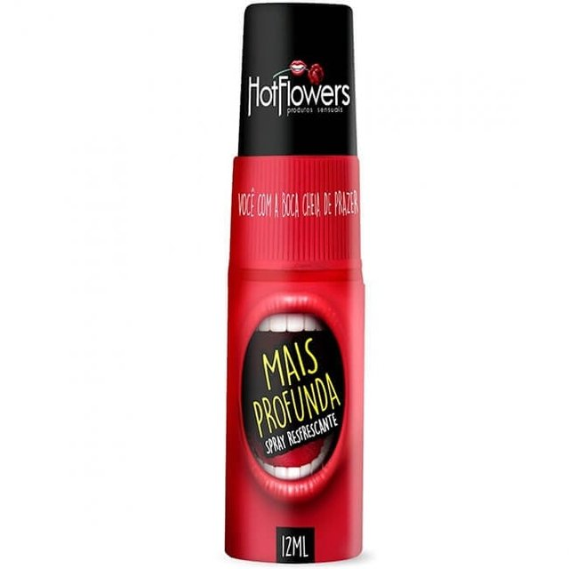 SPRAY REFRESCANTE PARA SEXO ORAL MAIS PROFUNDA 12ML - HOT FLOWERS