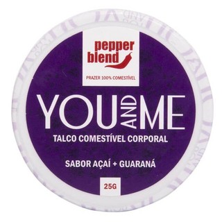 TALCO COMESTÍVEL AROMÁTICO YOU AND ME 25G - PEPPER BLEND -  Delicia Sexshop Online