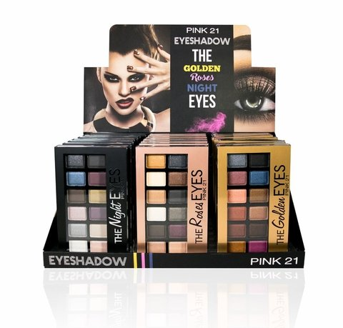 PINK 21 EYESHADOW THE GOLDEN ROSES NIGHT EYES CS1388