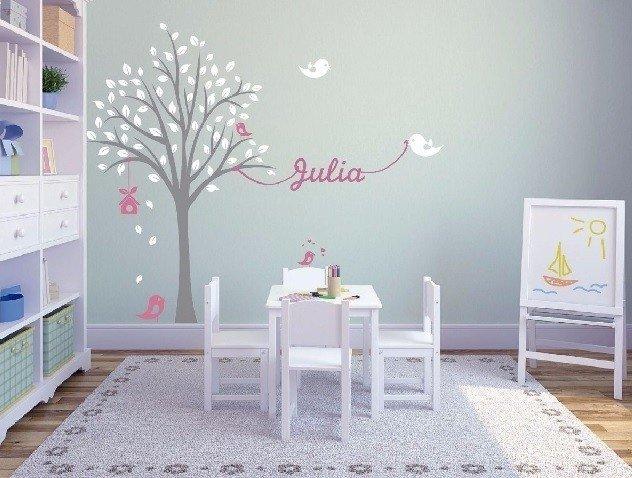 Vinilo decorativo infantil arbol nombre bebe - Vinilos de arboles ...