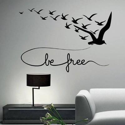 Vinilo Frase Y Pájaros