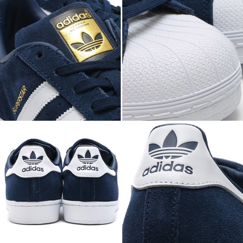 huge selection of 6776f 9a853 ... Adidas Superstar Gamuza Azul en internet Adidas Superstar Gamuza Azul - Oyuelito  Store
