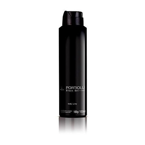 Desodorante Body Spray Aerossol Masculino Portiolli Black Edition Jequiti