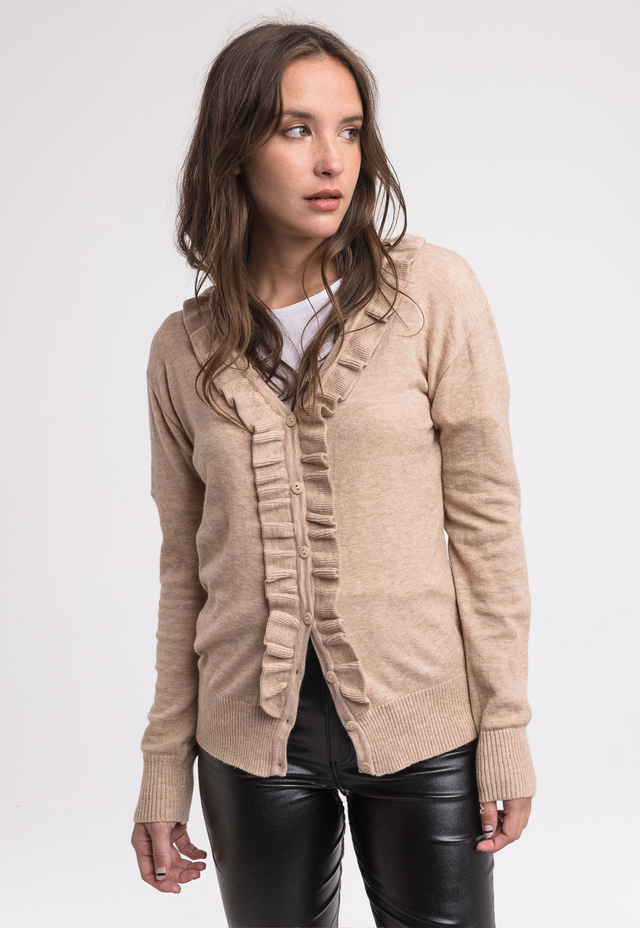 MUESTRA- Aa. Campera Holly Beige