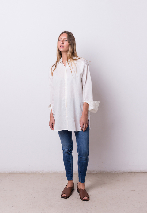 2 SELECCION: Camisa Grace off white - comprar online