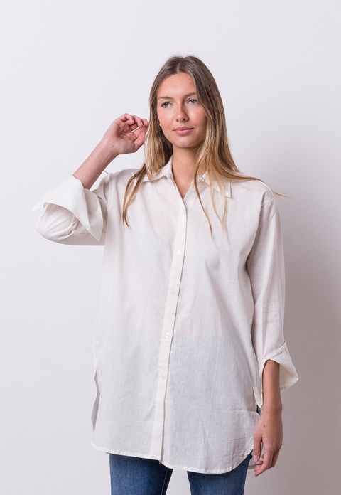 Camisa Grace off white en internet