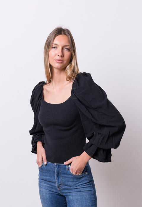 LIMITED EDITION /  Aa - Blusa Antonia Negro