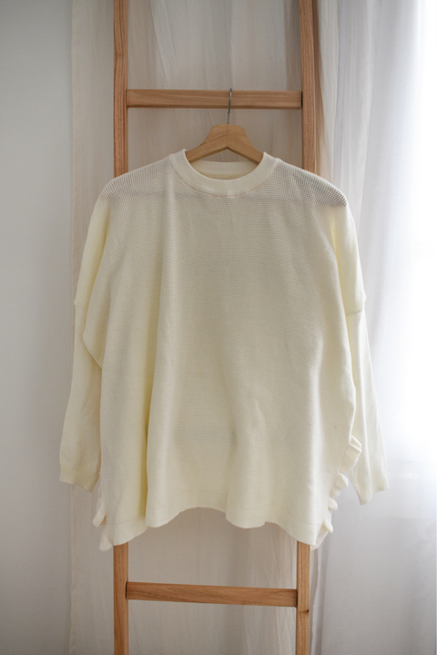 MUESTRA- sweater volados off-white