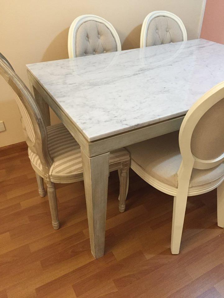 Mesa de comedor Wood | Mármol - Comprar en Dúo Deco