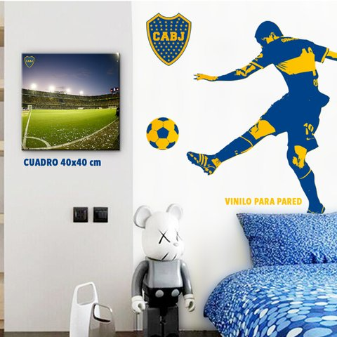 Vinilo para Pared, Figura Boca Juniors