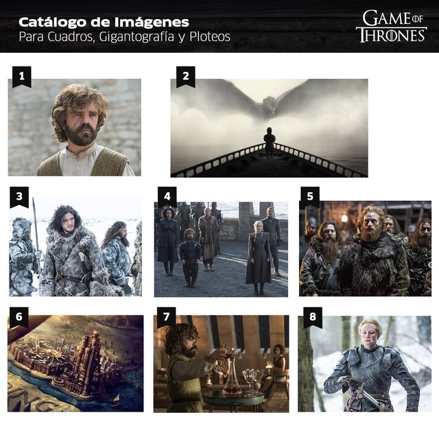 Polipticos Game of Thrones en internet