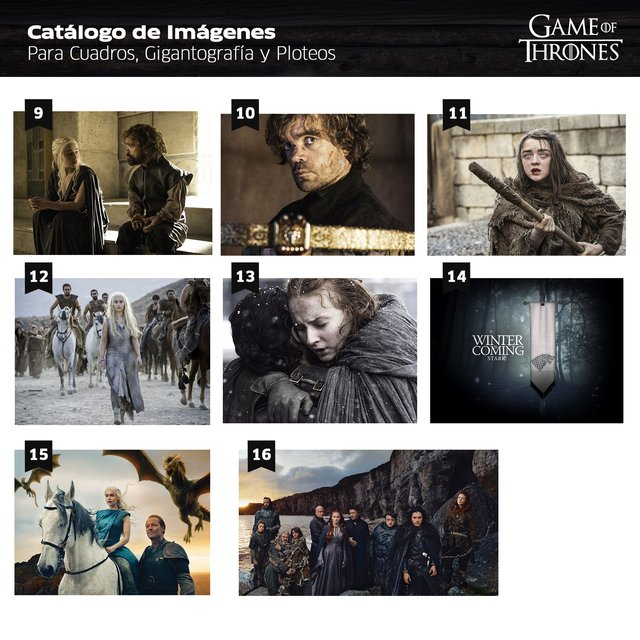Polipticos Game of Thrones - Mikiu Design