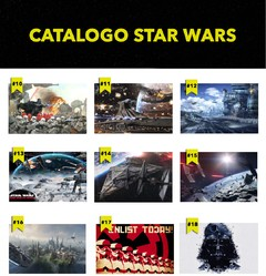 Polipticos Star Wars en internet