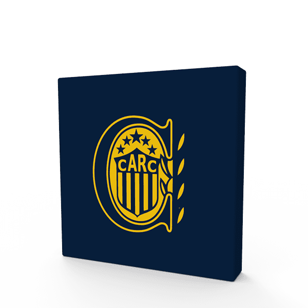 Cuadritos decorativos Rosario Central 15 cm x 15 cm