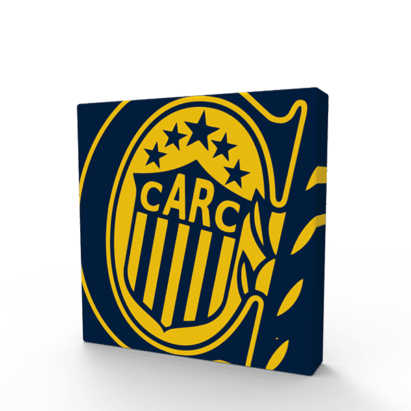 Cuadritos decorativos Rosario Central 15 cm x 15 cm - Mikiu Design