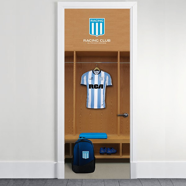 Vinilo decorativo de Puertas Racing Club