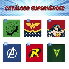 Cuadritos Superheroes - Mikiu Design
