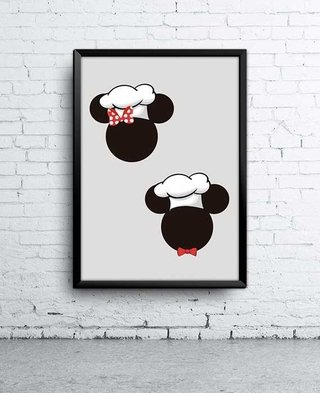 Poster Mickey e Minnie Cheff