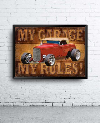 Poster My garage, My rules