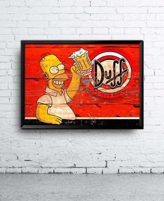 Poster Homer and Duff Beer