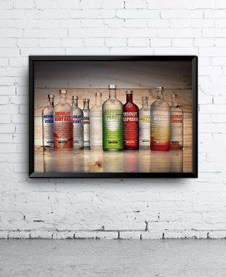 Poster Absolut Vodka Garrafas