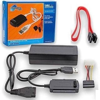 Adaptador USB 2.0 All IDE + SATA Noganet HE2020