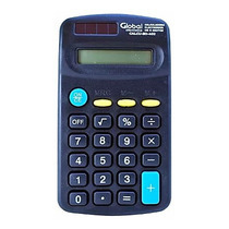 Calculadora GLOBAL 8dig. Negra CALCU-8D-402