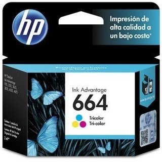 Cartucho HP 664 Tricolor Original