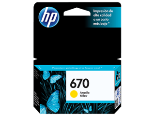 Cartucho HP 670 YELLOW Original