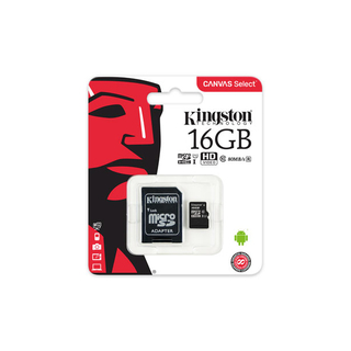 Memoria MicroSD 16GB Kingston 100mb/s