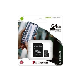 Memoria MicroSD 64GB Kingston 100mb/s