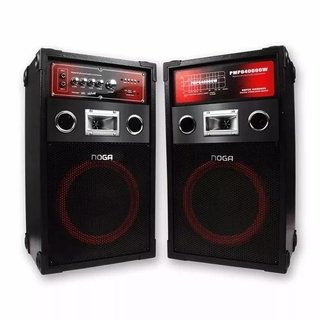 Parlante NOGA MIX Bluetooth 60W + 2mic + SD + FM