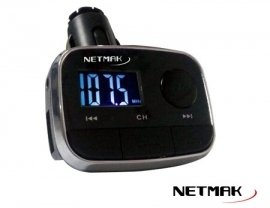 Trasmisor Netmak FM +USB + Display  NM-AD956S