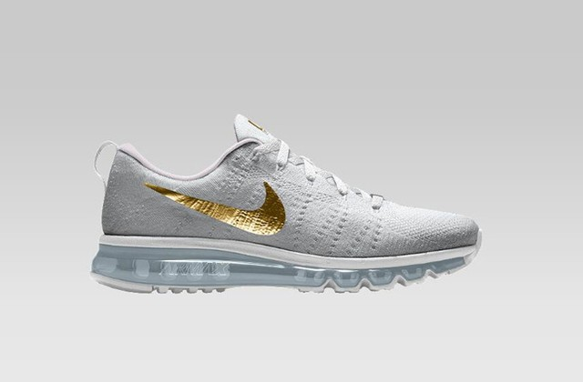 Nike Flyknit Air Max [Branco/Ouro]