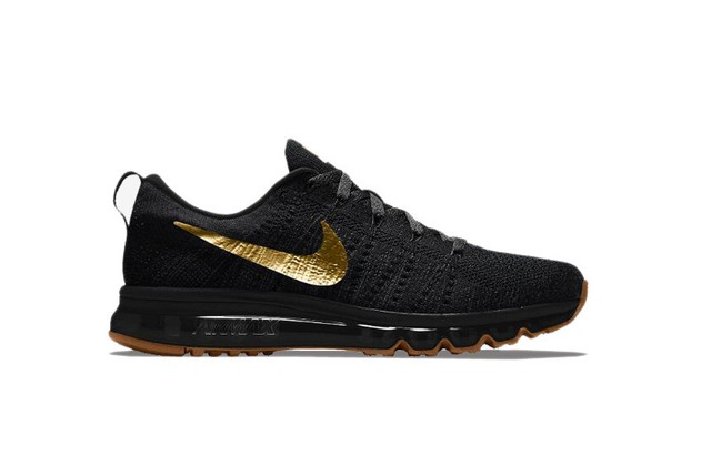 Nike Flyknit Air Max [Preto/Ouro] na internet