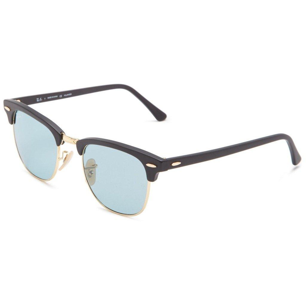 Gafas Ray Ban Originales Clubmaster Marco Negro Lente Azul