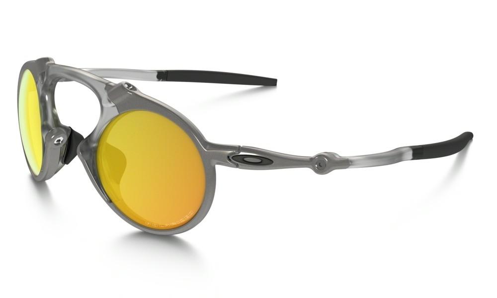 Gafas Oakley Originales Polarized Madman OO6019-07 Marco Gris Lente ...