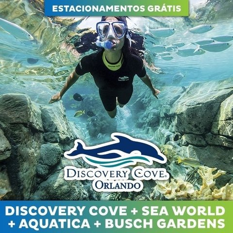 Ingresso Discovery Cove Ultimate (Sea World + Busch Gardens + Aquatica) 2019