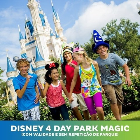 Ingresso Disney 4 Park Magic + Parque Aquático e NBA Experience - Jan-Fev-Mar 2020